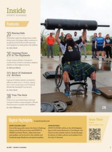 Sports 'N Spokes July 2018 Table of contents